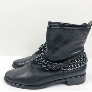 Aerosoles | Black chain ankle booties